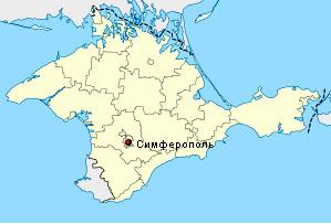 Симферополь на карте Крыма