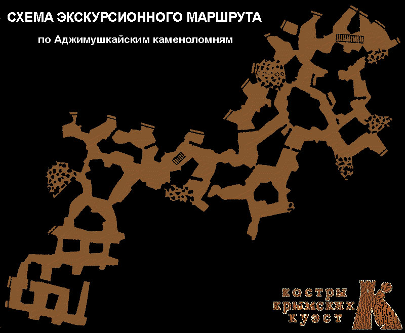 Карта Аджимушкайских каменоломень