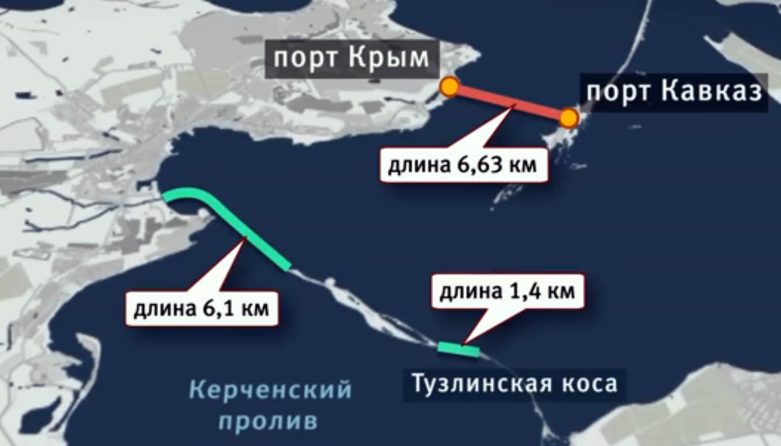 Керченский мост - карта