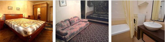 варианты квартир посуточно в Москве