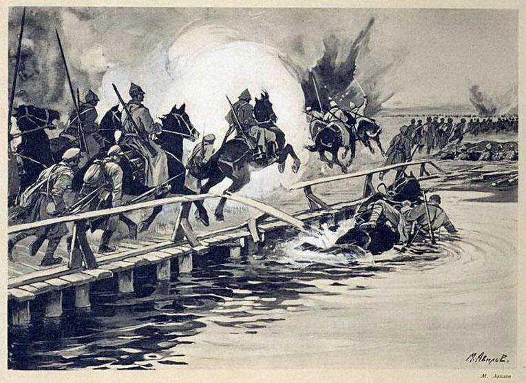 Чонгарский мост - старинная иллюстрация