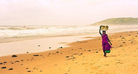 пляж Калангут в Гоа