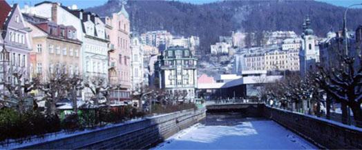 город Карловые Вары зимой