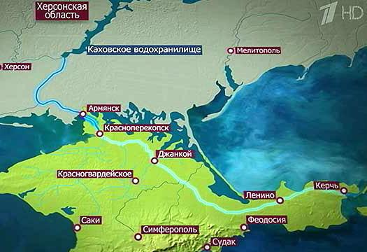 Cеверо-Крымский канал схема