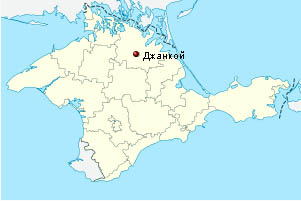 Джанкой на карте Крыма России