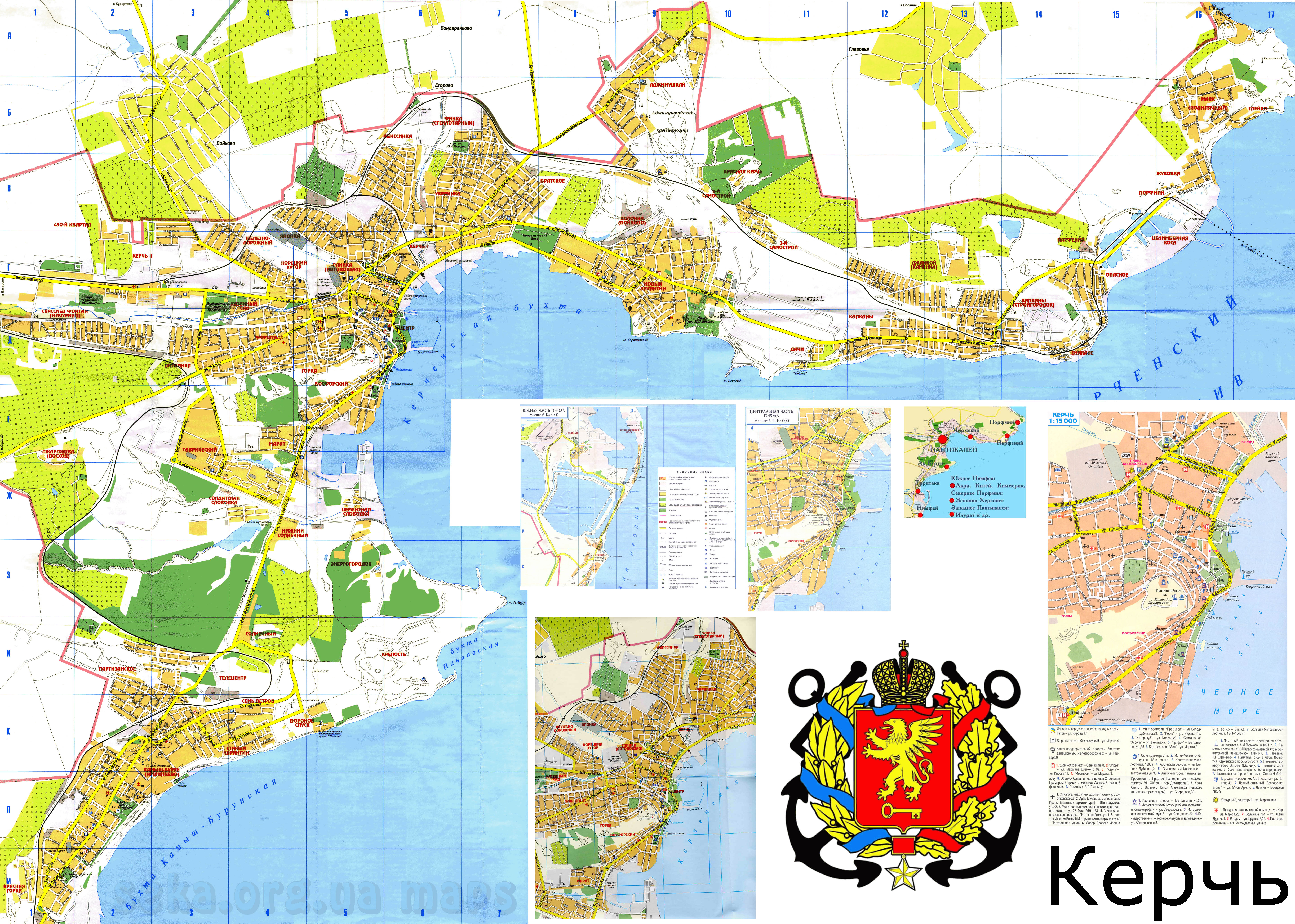 Карта Керчи Спутниковая
