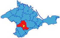 Симферопольский район на карте Крыма